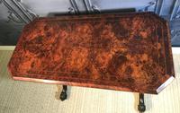 Victorian Burr Walnut Stretcher Table (7 of 9)