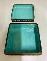 Antique Oriental Cloisonné Enamel Box c.1890 (4 of 8)