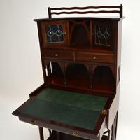 Antique Edwardian Arts & Crafts Mahogany Writing Bureau (3 of 12)