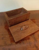Early Mouseman Adzed Oak Lidded Box (4 of 6)
