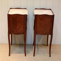 Pair of French Mahogany Inlaid Bedside Cabinets (10 of 10)