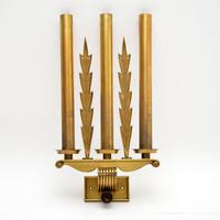 Set of 5 Antique Neo-Classical Brass Wall Sconce Lights (2 of 12)