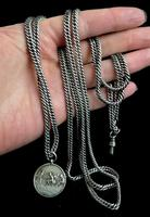 Antique Silver Longuard Chain, Pendant (9 of 12)