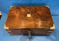 Victorian Brassbound Figured Walnut Writing Slope (6 of 18)