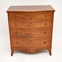 Antique Georgian Style Flame Mahogany Chest of Drawers (7 of 10)