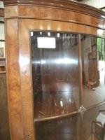 Glazed Burr Walnut Corner Cabinet (3 of 7)
