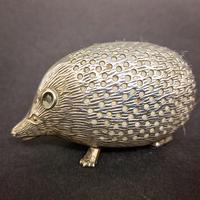 Edwardian Silver Hedgehog Pin Cushion (6 of 6)