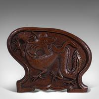 Antique Carved Book Stand, Oriental, Mahogany, Rack, Dragon Motif, 19th Century (11 of 12)