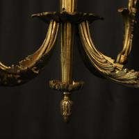 French Gilded Bronze 4 Light Antique Chandelier (7 of 10)