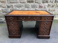 Antique Oak Pedestal Desk