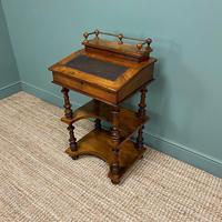 Stunning Victorian Walnut Antique Davenport Whatnot (6 of 10)