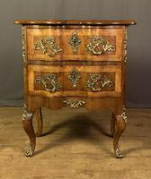 French Walnut Shaped Front Commode Chest (2 of 10)