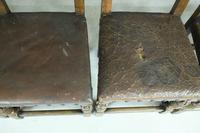 6 Cromwellian Style Brown Leather Dining Chairs (8 of 12)