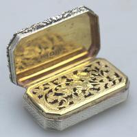 Good William IV Solid Silver Vinaigrette London 1832