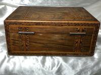 Fine Antique Mid Victorian 19th Century Tunbridge Sewing Workbox Parquetry Inlaid (12 of 12)