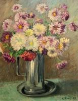 Lovely Original Early 20thc French Impressionist Still Life Floral Oil Painting (7 of 12)