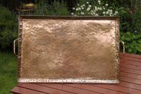 Large copper tray by John Pearson