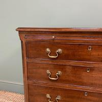 Unusual Small Edwardian Mahogany Antique Bachelors Chest (5 of 7)