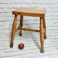 Antique Country Stool - Ash & Sycamore (2 of 5)