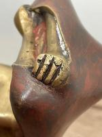 """Art Deco French Cold Painted Gilt Bronze Posing """"Mystery Nude Lady"""" c.1930 (38 of 41)"""