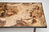 1950's Vintage Marble & Brass Coffee Table (9 of 10)