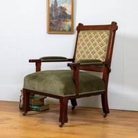 Victorian Arts & Crafts Armchair - New Upholstery