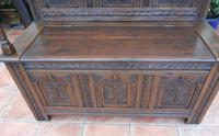 Country Oak Cottage Settle 1820 (2 of 10)