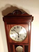 Arts & Crafts Period Mahogany Wall Clock (4 of 6)