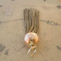 Vintage Pocket Watch Chain Tassel Fob 1950s Victorian Revival Large Silver Nickel Fob (3 of 4)