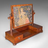 Antique Dressing Mirror, English, Mahogany, Boudoir, Pedestal Base, Victorian (7 of 12)