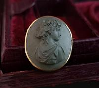 Antique Lava cameo brooch, 9ct gold (2 of 8)