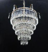 Italian Art Deco Five Tier Crystal Glass Chandelier (7 of 7)