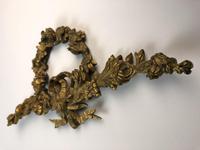 Antique French Ormolu Gilt Bronze Pediment Architectural Salvage (4 of 11)