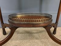 Fine Quality Oval Inlaid Mahogany Occasional Table (6 of 16)