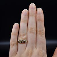 Antique REGARD and Pearl Acrostic Multi Gemstone 9ct Gold Ring Band (4 of 10)
