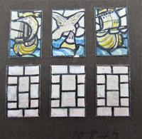 Florence Camm, Watercolour Stained Glass Window Design, Story of Undine c.1930 (5 of 5)