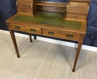 Victorian Inlaid Mahogany Writing Desk (2 of 20)