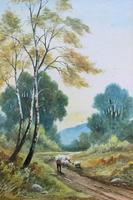 Near Darley Dale 19thc Derbyshire Sheppard Sheep  Landscape Watercolour Painting (3 of 13)