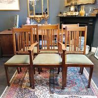 Arts & Crafts Oak, Medullery Ray Extending Table with 6 Chairs, in the manner of Liberty & Co (16 of 22)