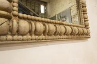 Large Square Late 19th Century French Wall - Overmantle Mirror (9 of 13)