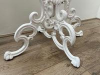 Victorian 19th Century Garden Cast Iron Painted White 6 Branch Plant Stand (36 of 47)