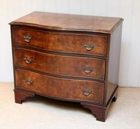 Walnut Serpentine Front Chest of Drawers (8 of 10)