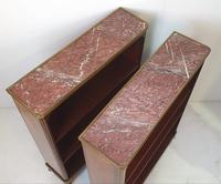 Pair of 19th Century Marble Topped Open Bookcases (5 of 5)