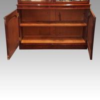 Victorian mahogany library bookcase (2 of 11)
