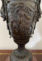 Magnificent Pair of Heavy Bronze Lamps (7 of 11)