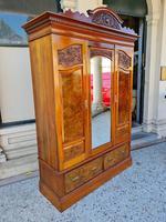 Antique Walnut Wardrobe with Burr Walnut Panels (2 of 11)