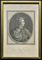 Rare Set of 12 Original 18th Century Engraving's of Kings & Queens of England (6 of 18)