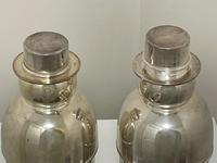 Pair of Decorative Art Deco Style Silver Snowmen Cocktail Shakers (10 of 42)