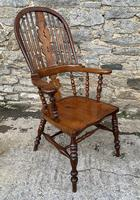 Pair of Antique Broad Arm Windsor Chairs (9 of 28)