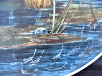 Hand painted Aesthetic Period Copeland pottery footed plate signed & dated 1878 (3 of 9)